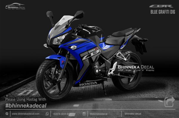DECAL STICKER CBR K45 DESAIN BLUE GRAFITY-001