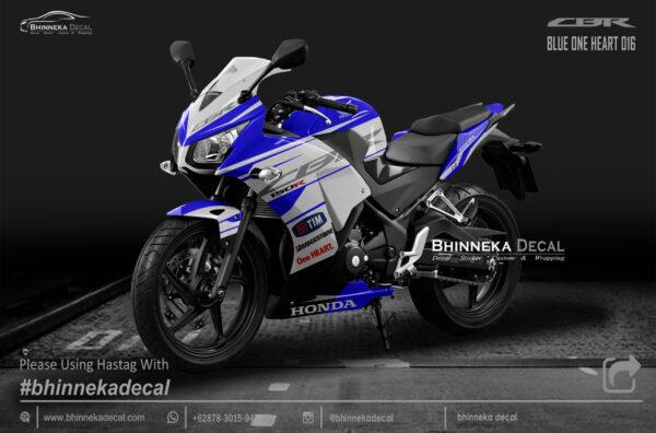 DECAL STICKER CBR K45 DESAIN BLUE ONE HEART-002