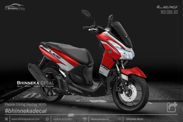 DECAL STICKER LEXI 125 DESAIN RED COOL KODE 012