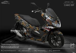 DECAL STICKER HONDA PCX 150 CAMO