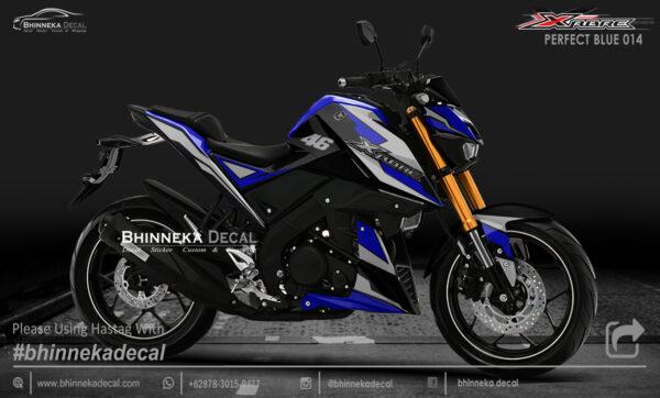 DECAL STICKER XABRE 150 DESAIN PERFECT BLUE KODE 004