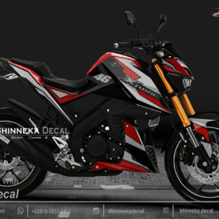 DECAL STICKER XABRE 150 DESAIN PERFECT RED KODE 005