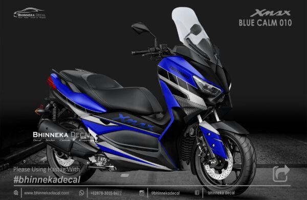 DECAL STICKER YAMAHA X MAX 250 BLUE CALM KODE 002