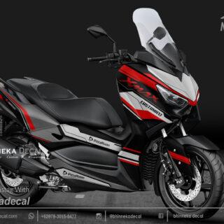 DECAL STICKER YAMAHA X MAX 250 MAXI RED KODE 003
