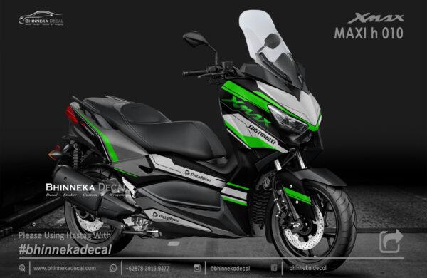 DECAL STICKER YAMAHA X MAX 250 MAXI GREEN KODE 004