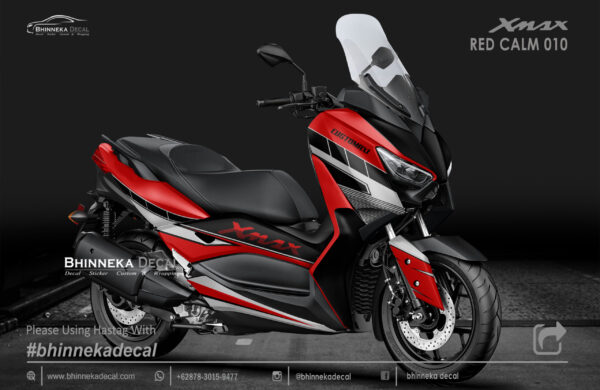 DECAL STICKER YAMAHA X MAX 250 RED CALM KODE 006