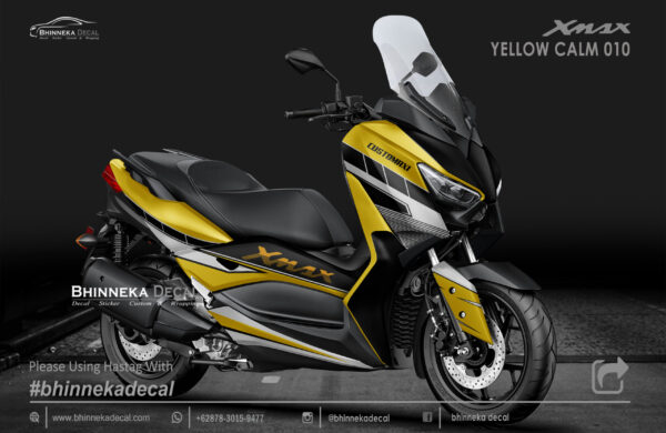 DECAL STICKER YAMAHA X MAX 250 YELLOW CALM KODE 008