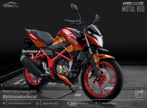 DECAL STICKER CB 150 R DESAIN RED MOTUL-017