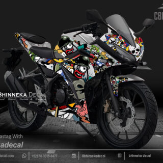 DECAL STICKER CBR 150R DESAIN BLACK GRAFITY-020