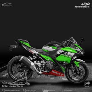 DECAL STICKER NINJA FI ALL NEW DESAIN GREEN MOTOCARD-004