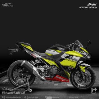 DECAL STICKER NINJA FI ALL NEW DESAIN YELLOW MOTOCARD-007