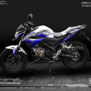 DECAL STICKER CB 150 R 2019 DESAIN BLUE GRAFIS-011