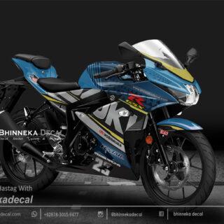 DECAL STICKER GSX R 150 DESAIN MOOSERACING BLUE-015