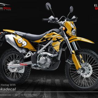 DECAL STICKER KLX BF DESAIN GOLD-012