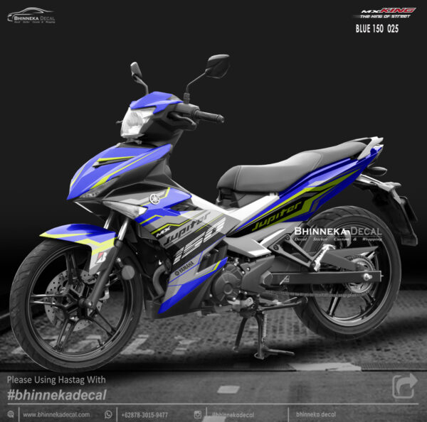 DECAL STICKER MX-KING 150 GRAFIS BLUE WHITE-001