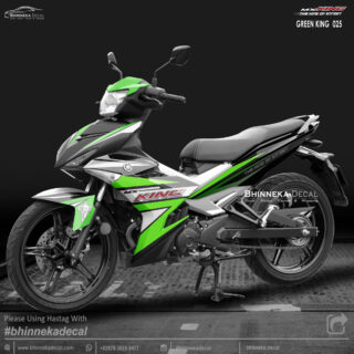 DECAL STICKER MX-KING 150 GRAFIS GREEN KING-006